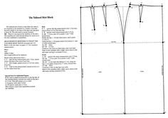 Basic Sewing PATTERN CUTTING Basic Skirt Block - From Practical Home Dressmaking Illustrated by Lynn Hillson Welcome to the first Tutorial of Pattern Month! Firstly, you will find it useful to know the four stages of Pattern development: The … Bodice Pattern, Collar Pattern, Pants Pattern, Pattern Blocks, Sleeve Pattern, Top Pattern, Pattern Drafting Tutorials, Skirt Patterns Sewing, Shirt Patterns