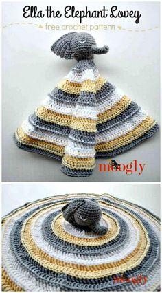 Free Crochet Ella the Elephant Lovey Pattern - 35 Free Crochet Lovey Patterns for Your Cute Baby - DIY & Crafts