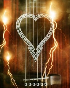 WowFX added the goofy lightning on this guitar picture.