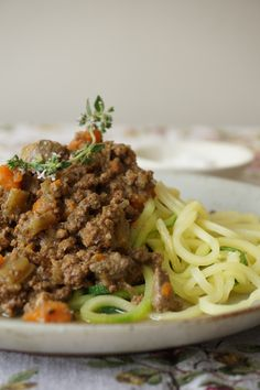 Bolognese Sauce with Chicken Livers and Zoodles / Healing Family Eats