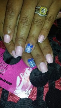 Gel manicure with design