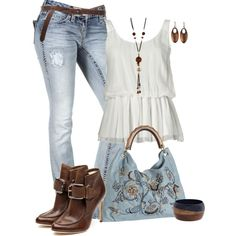 A fashion look from June 2012 featuring Rock Revival jeans, Rupert Sanderson ankle booties y River Island bracelets. Browse and shop related looks. Diva Fashion, Fashion Looks, Womens Fashion, Fashion Trends, Cool Outfits, Casual Outfits, Looks Jeans, Looks Street Style, Complete Outfits