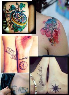 Inspiração tatuagem viagem! 24 travel tattoos