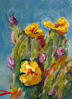 Abstract Cactus Paintings | More by Delilah Smith | More Landscapes Paintings For Sale