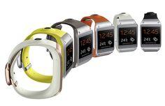 Smart watch by Samsung Galaxy Gear.