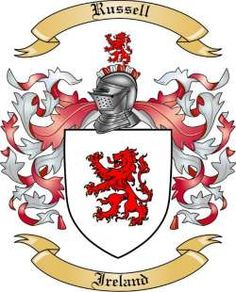 Russell Family Crest from Ireland