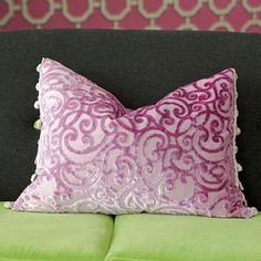 Rochester Cyclamen Throw Pillow | Designers Guild USA