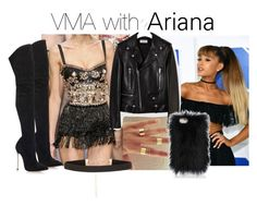 """""""VMA with Ariana"""" by pezzieshampoo ❤ liked on Polyvore featuring Dolce&Gabbana, xO Design, Yves Saint Laurent, Casadei and New Look"""