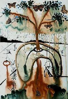 """""""A mad tea party"""". Salvador Dali Alices Adventures in Wonderland"""