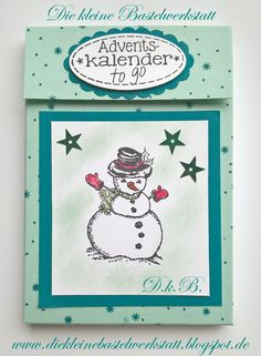 Stampin up Adventskalender für unterwegs Stempelset Christmas Magic Stempelset Tannenzauber