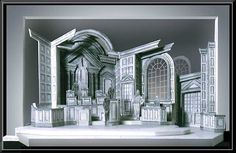 Witness for the Prosecution - Scenic Design by R. Finkelstein Presented by The New York State Theatre Institute. The production, by Agatha Christie, was directed by Ralph Allen. Depicted below is a white model of the courtroom set.