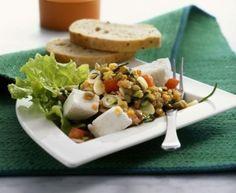 Čočkový salát se šunkou / Lentil salad with ham