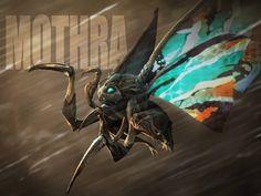 Jordan Yen - Another Mothra 🦋⚡ . Godzilla Franchise, Godzilla Comics, Mothra Movie, Aliens, Pokemon, Monster Art, Marvel, Creature Concept, Pacific Rim