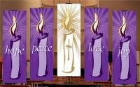 ADV-2X6 Contemporary Advent Banners