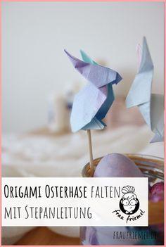 Erfahre hier, wie Du einen Origami Hase falten kannst für tolle Ostergeschenke oder Osterdeko.Die kostenlsoe Origami Hase Anleitung führt Dich Schritt für Schritt durch den Faltprozess. Viel Spaß beim Selbermachen! #origami #origamihase #papierfalten #bastelnmitpapier #osterdiy #diyostern #osterdeko Diy Origami, Diy Ostern, Place Cards, Place Card Holders, Paper Mill, Origami Folding, Bracelets Crafts