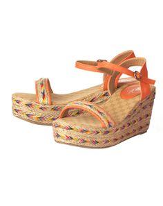 Orange color Wedges shoes for women