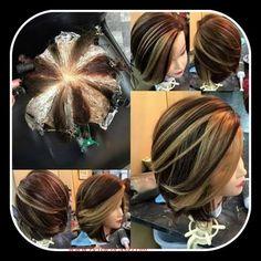 Técnica de molinete , color en cabello paso a paso !!
