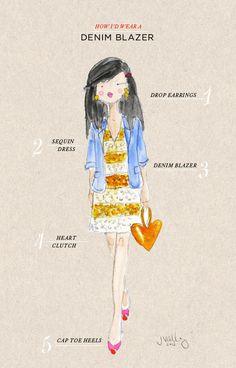 oh joy! denim blazer illustration