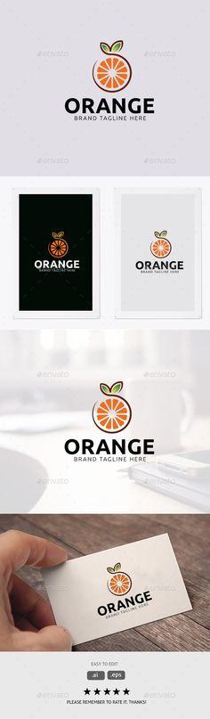 Orange Logo - Food Logo Templates Download here: https://graphicriver.net/item/orange-logo/19949638?ref=classicdesignp