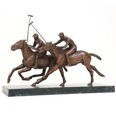 Bronze Polo Player Sculpture
