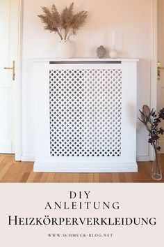 DIY Heizungsverkleidung bauen – Anleitung Build a beautiful custom DIY heating panel exactly to your taste with this simple guide. Diy Furniture On A Budget, Diy Pallet Furniture, Diy Interior, Interior Design, Diy Radiator Cover, Pallet House, Upcycled Home Decor, Home Decor Hacks, Construction