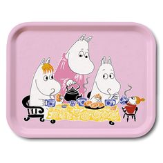 Handmade tray with a classic motif taken from Tove Jansson's original drawings. High quality wood, made in Sweden.