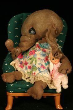"Narek  5"" elephant by doll artist Jan Shackelford   www.janshackelforddolls.com"