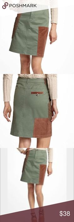 Anthropologie Meadow Rue Patchwork Skirt Adorable fall skirt from Anthropologie! Corduroy and quilted patches throughout. Super cute with flats as well as boots! Anthropologie Skirts