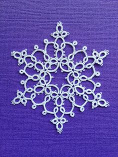 Free patterns for snowflakes, bookmarks, ect., by Tatting by the Bay. Links to Google Drive.
