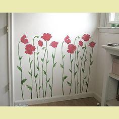 poppy flower stencil