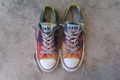 Tie dye Converses just like you used to do at summer camp