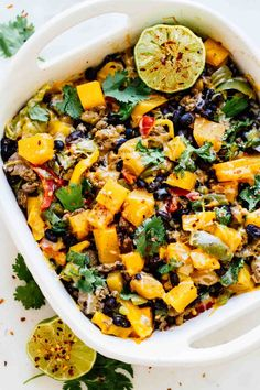 Spicy Southwest Butternut Squash Casserole - creamy, savory, spicy, wholesome, and perfect for a quick and easy fall dinner! This recipe is gluten-free and delicious!