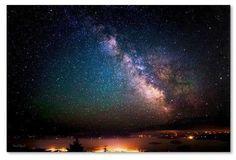 Trademark Global David Ayash 'Milky Way Over Acadia National Park' Unframed Wall Canvas Art