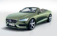 2017 volvo convertible   Volvo Concept Coupe Reimagined as C70 Convertible Successor.