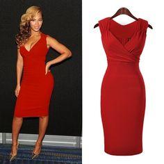 Sexet rød kjole