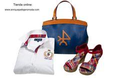 Valecuatro Primavera Verano 2014. Camisa con bolso y cuñas #moda #mujer #bolsos Disponible en nuestra tienda online también.