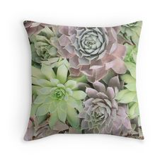 New to aprilbernphoto on Etsy: Succulent Garden Decorative Throw Pillow Cover Fine Art Photography Pillow Case Succulent (40.00 USD)