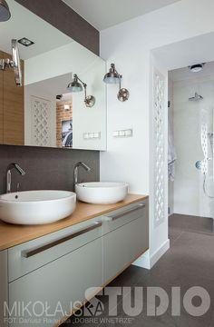 LOFTOWA ŁAZIENKA Loft, Double Vanity, Studio, Bathroom, House, Wall, Stone, Projects, Washroom