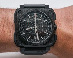 """Bell & Ross BR-X1 Carbone Forgé Watch Hands-On - by David Bredan - see the hands-on pictures from Couture 2015 and read more about it on aBlogtoWatch.com """"Despite all the high-tech case materials and sophisticated movement inside, I found the Bell & Ross BR-X1 Carbone Forgé to really stand out because of the design's fantastic proportions, the selection and combination of materials, and the overall impression it makes when seen live..."""""""
