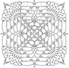 VK is the largest European social network with more than 100 million active users. Filet Crochet, Crochet Shawl Diagram, Granny Square Crochet Pattern, Crochet Chart, Crochet Squares, Thread Crochet, Crochet Leaf Patterns, Crochet Circles, Crochet Blocks