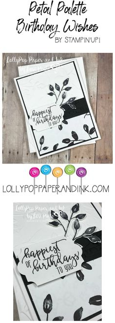 Stampin'Up! Stampinup! Petal Palette Bundle from 2018 Occasions Catalog #loripinto #lollypoppaper
