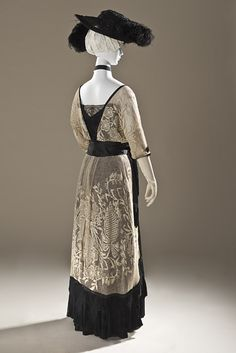 Dress, Evening  Callot Soeurs  (French, active 1895–1937)  Date: 1910–14 Culture: French Medium: cotton, silk, metal