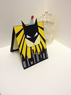 Personalised lego batman skyline birthday card handmade hand my dad is a big fan of batman has lots of action figures so making this batman card for his birthday of 2014 using power rays die super 2 die both from bookmarktalkfo Choice Image