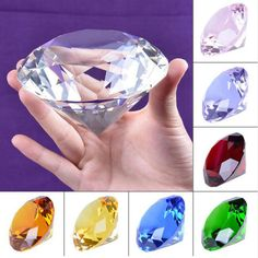 Glass Crystal Diamond Shape Facet Jewel Wedding Gift 30mm、Pop.2018