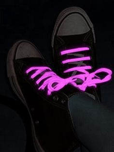 Glow in the Dark Pair of Shoe Laces (Light Pink) BeWild. $2.99