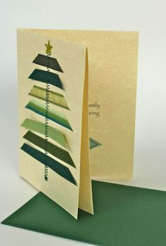 Homemade Christmas cards done by hand can make Christmas more traditional. While most people display their generic store-bought Christmas cards, yours will be sure to stand out. Here is a list of some creative homemade Christmas cards we've found. Christmas Card Crafts, Homemade Christmas Cards, Christmas Cards To Make, Noel Christmas, Xmas Cards, Diy Cards, Homemade Cards, Handmade Christmas, Holiday Cards