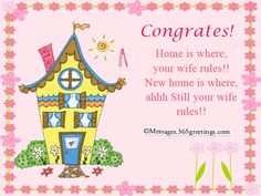 Congrats New Home Message Snail Red Shell Messages