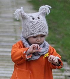 chouette - Free pattern for Owl Hat - toddler to adult Ravelry Baby Patterns, Knitting Patterns Free, Knit Patterns, Free Knitting, Free Pattern, Knitting For Kids, Knitting Projects, Crochet Baby, Knit Crochet