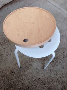 IKEA PS Tray + MARIUS makes a Multipurpose Side Table or Plant Stand