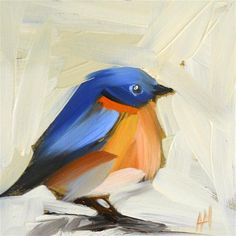 """bluebird no. 14"" - Original Fine Art for Sale - © Angela Moulton"